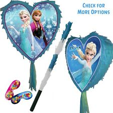 Frozen Heart Pinata Smash Party Stick Disney Princess anna elsa olaf Love Sky UK