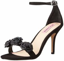 Betsey Johnson Womens Bromme Fabric Open Toe Special Occasion Ankle Strap San...
