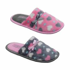WOMENS JYOTI SLIP ON FUR MULES COSY WARM FURRY FLUFFY SLIPPERS RUBBER SOLE