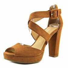 Chinese Laundry All Access Women Open Toe Canvas Brown Sandals