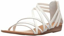 Carlos by Carlos Santana Womens amara Leather Open Toe Casual Strappy Sandals