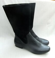 NEW CLARKS MOUNTAIN MIST WOMENS BLACK LEATHER / SUEDE BOOTS SIZE 7 / 41