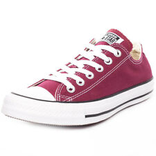 Converse Chuck Taylor All Star Ox Unisex Maroon Canvas Casual Trainers Lace Up