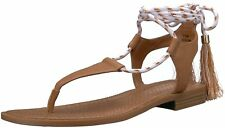 Nine West Womens Gannon Leather Open Toe Casual T-Strap Sandals
