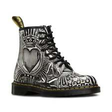Dr Martens 1460 Playing Card Unisex Leather Boots - Egret