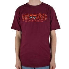 Krooked Eyes T-Shirt Burgundy Skateboard T-Shirt Gr.S-XL