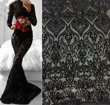 """Stunning Embroidery Bridal Lace Fabric 57"""" Wide Beaded Wedding Lace Fabric 1 Y"""