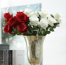 Artificial Rose Silk Flowers 3Heads 1bunch Floral Rose Wedding Party Home Decor