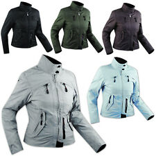 Ladies Textile Waterproof CE Armored Thermal Liner Jacket Motorcycle Scooter