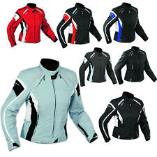 Jacket Textile Ladies Racing Motorcycle Motorbike All Season CE Armored A-PRO