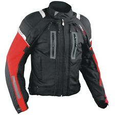 Motorcycle Jacket CE Armored Motorbike Textile Warterproof 4 layer Red