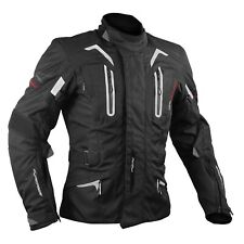 Motorbike Motorcycle CE Armours Warterproof Textile Jacket Thermal Layer Black
