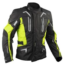 Motorbike Motorcycle CE Armours Warterproof Textile Jacket Thermal Layer Fluo