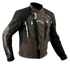 Motorbike Motorcycle 100% Waterproof CE Armours Textile Thermal Jacket Brown