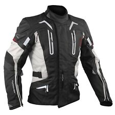 Motorbike Motorcycle CE Armours Warterproof Textile Jacket Thermal Layer Grey