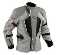 Motorbike Motorcycle Waterproof CE Armours Textile Touring Tex Jacket Grey