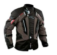 Motorbike Motorcycle Waterproof CE Armours Textile Touring Tex Jacket Brown