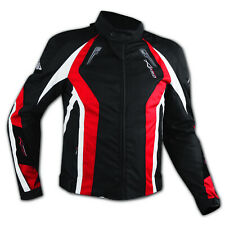 Waterproof Motorcycle Motorbike Red CE Approved Armored Textile Lady Jacket