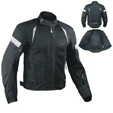Summer Motorbike Mesh Sport Racing Touring CE Armored Jacket Motorcycle Black