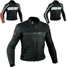 Quality Motorbike Motorcycle CE Armours Leather Touring Racing Jacket All Sizes