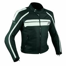 Quality Motorbike Motorcycle CE Armours Leather Touring Racing Jacket White