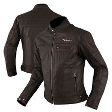 Warm Soft Oiled Leather Jacket Armour CE Motorcycle Motorbike Quality