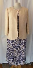 JACQUES VERT CORNFLOWER & MAIZE RANGE CORNFLOWER DRESS MAIZE BOUCLE JACKET  T1A