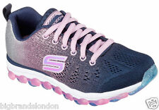 Skechers 80035L Air Navy Pink Trainers