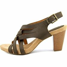 Giani Bernini Womens Justyne Leather Open Toe Casual Strappy Sandals