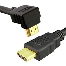 HDMI v1.4 Right Angle High Speed Ethernet Cable Gold Plated 1080p HD 0.5 2 5 7m