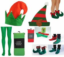 Adult Ladies Santa's Little Helper Cute Elf Christmas Fancy Dress Party Costume