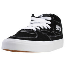 Vans Half Cab Unisex Black White Suede Casual Trainers Lace Up