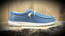 Hey Dude // Dude Shoes // Wally Braided Navy VEGAN friendly summer shoes // NEW!