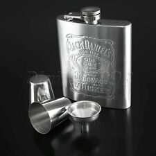 Stainless Steel Liquor Hip Flask Whiskey Alcohol Wine Flagon Bottle Men Gift Kit