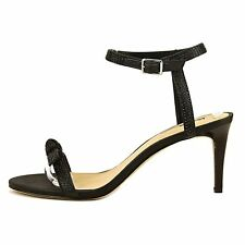 INC International Concepts Womens Laniah Fabric Open Toe Casual Ankle Strap S...