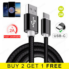 Braided USB Type C Cable Samsung Galaxy S9 USB-C Fast Data Charger USB 3.1 Lead