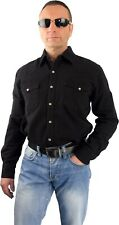Camisa vaquera Country Estilo Occidental RAW DENIM 50er ROCKABILLY HILLBILLY