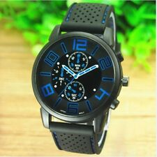 Sport Watch Silicone Band Strap Analog Quartz Dial Casual Simple Wrist Watches