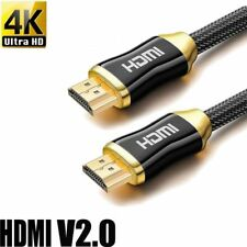 UK® Premium HDMI Cable Lead v2.0 Gold High Speed HDTV UltraHD HD 2160p 4K 3D