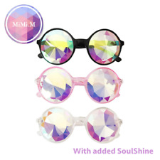 Kaleidoscope Glasses Rave Dance Diffracted Rainbow Festival Retro Sunglasses