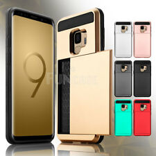For Samsung Galaxy S9 S9+ Plus ID Card Wallet Case Pocket Shockproof Slim Cover