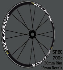 Mavic Ellipse Wheel Rim Decals Stickers for 700C 30mm Road Bicycle Bike wheels