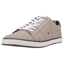 Tommy Hilfiger Iconic Long Lace Sneaker Mens Beige Brown Textile Trainers