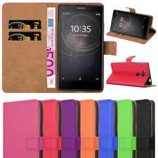 Leather Wallet Flip Book Stand View Case Cover for Sony Xperia L2 Mobile Phone