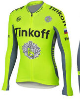 Roubaix lined Tinkoff Saxo Cycling Jersey - Long sleeve UK seller - fleece lined