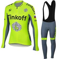 Roubaix lined Tinkoff Saxo Cycling Jersey, padded bib tights - Long sleeve - UK