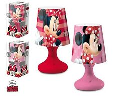 Lampe de Chevet Boule DISNEY MINNIE MOUSE Enfant Chambre en Rose/Rouge - LQ2035