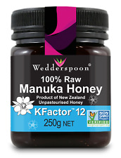 Wedderspoon RAW Manuka Honey KFactor 12 - 250g