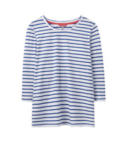 Joules Soleil mujer a rayas Ligero Top - DE RAYAS AZULES