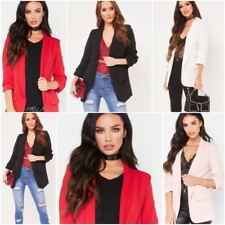 New Womens Ladies frill ruffle long sleeve Open Front duster coat jacket blazer